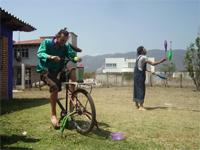 le bicimacchine e l'energia pulita, ecco il bicifrullatore