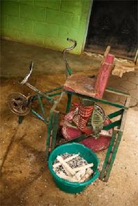 bicisgranatrice per sgranare il mais